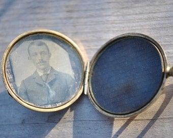 Antique Mourning Photo Locket. Pendant. Hair.