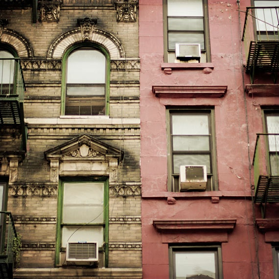 New York City Flats: New York City Apartment Photo NYC Living Red Green And Brown