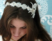 Pearl Bridal Headband - Beaded Bridal Headband-Wedding Acessories-Bridal Accessories