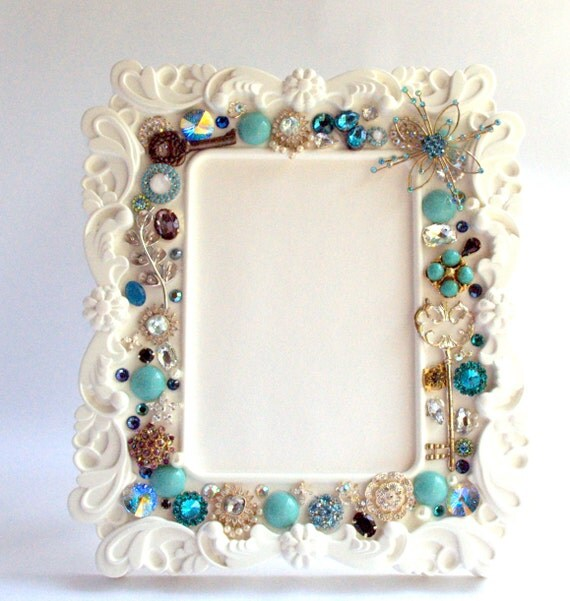 Embellished Picture Frame, Home and Living,Home Decor, Wedding Picture Frame, Decor and housewares,Frames, Wedding Gift-READY TO SHIP