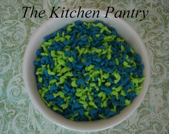 Blue and Green Dolphin Shapes  Sprinkles ( 2 ounces)