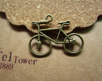 20pcs 31x24mm antique bronze  bicycle bike charms pendant C4023