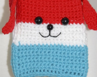 Puppysicle Crochet Hip Purse - Crochet Purse-Crochet-Bags-Red,Blue And White-Women Accessories-Popsicle