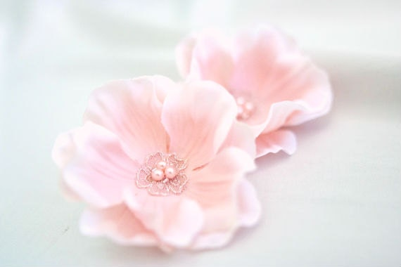 Flower Hair Clips (2 pcs), Dusty Pink, Small Hair Flowers, Hair Accessories, Pink Hair Flower Clips, Boho, Woodland