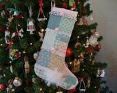 Shabby Chic Christmas Stocking