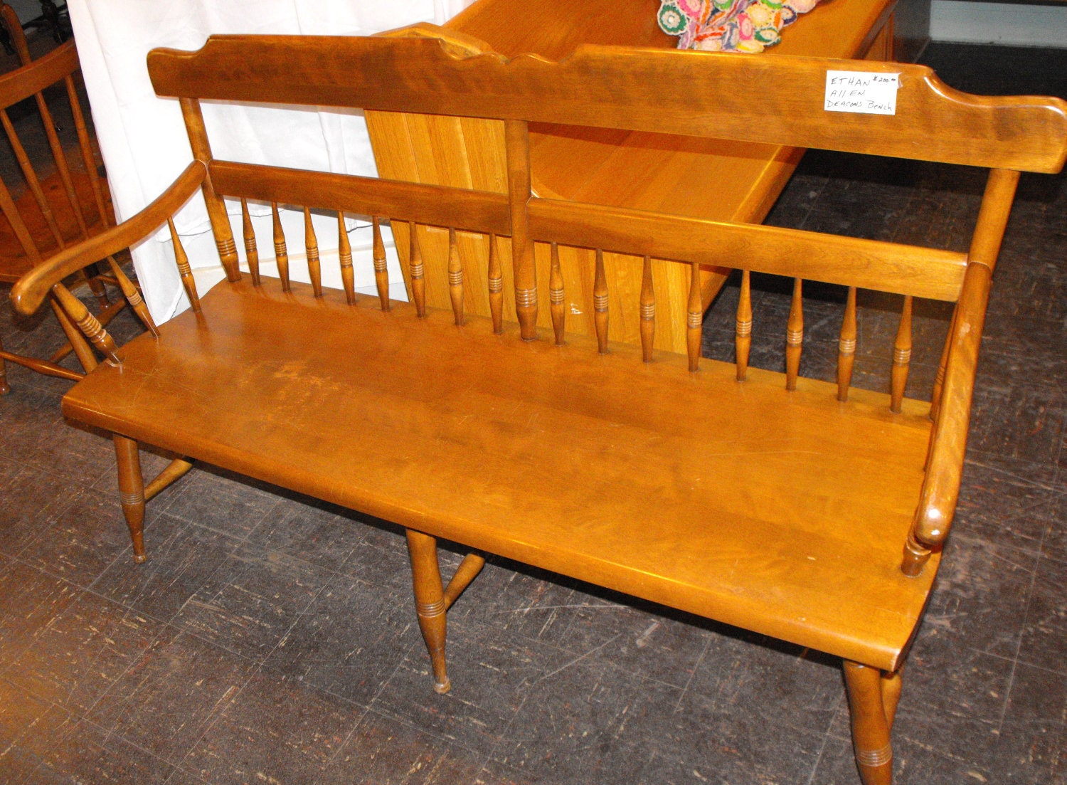 Hold For Chip Dougherty Ethan Allen Deacon S Bench