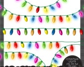Christmas Lights - Clip Art Set for Personal and Commercial Use by Nahhan 73 (PF-030)