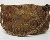 Large Autumn Hobo bag in Venetian paisley design tapestry
