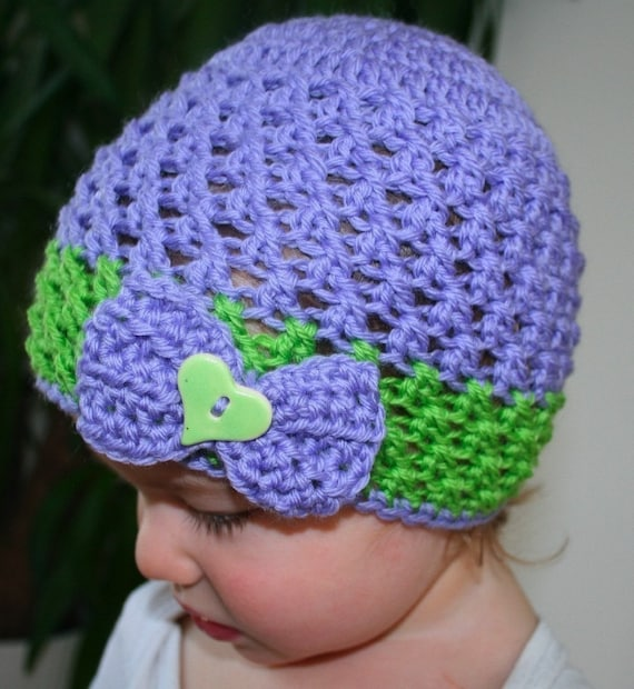 Items similar to Crochet pattern, lacy crochet baby hat ...