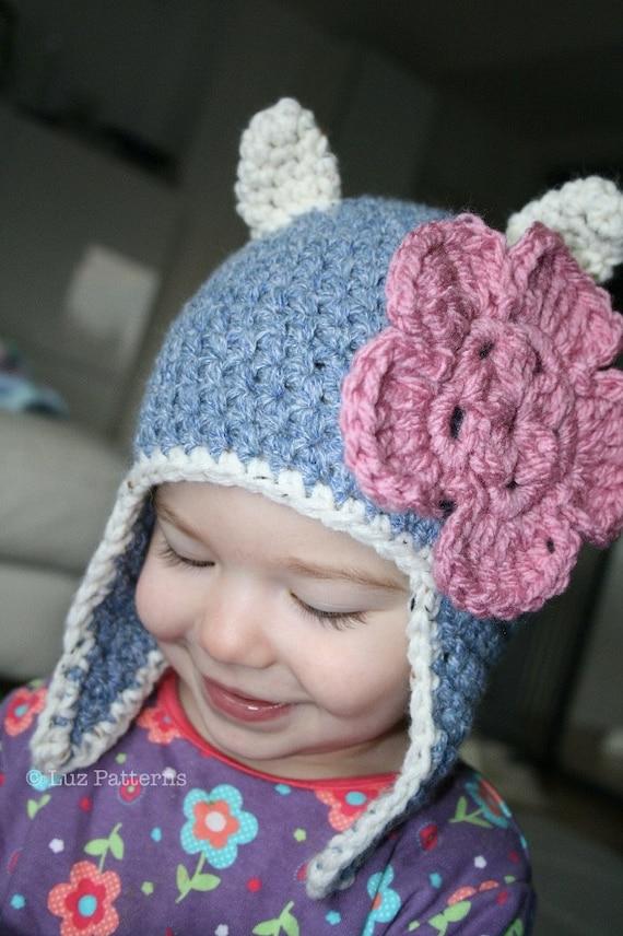 Crochet pattern, crochet cat hat pattern baby hat pattern cat hat ...