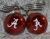 2 for 14.00 Alabama Ornaments