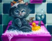 Bathing Time-Print