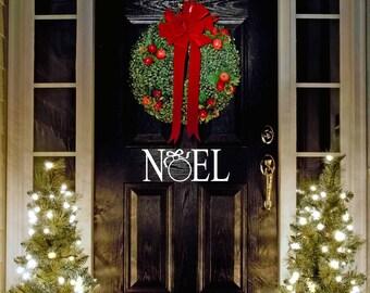"""Christmas Door Vinyl Wall/Door Decal Noel....Your choice of color"""""""