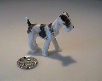 Vintage 1960's miniature bone china terrier dog