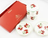 Palissy Christmas Royal Worcester Spode Pot and Dishes Set
