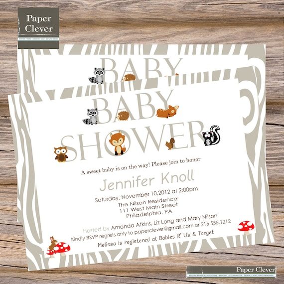 Modern Baby Shower Invitations: Baby Shower Invitations Woodland Boys With Owl By
