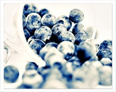 Blue White Kitchen Photo, Blue White Kitchen Decor, Blue Wall Art, blue white kitchen art, blue photography, Blueberrie