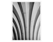 Black White Rustic Photograph, Black Silver,  Industrial Wall Decor, Corrugated Metal, art deco inspired, 11x14 print, geometric abstract