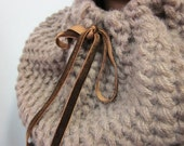 Infinity Beautiful  brown scarf ,brown knit scarf
