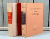 2pc Pink 1950's Books, Pretty Pink Readers Digest Books, Vintage Pink Books