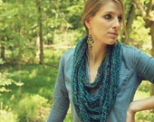 CLEARANCE Turquoise Chain Loop Infinity Scarf