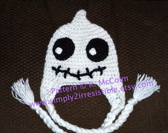 Skeleton Ghost Hat Pattern - Crochet Pattern 7 - Beanie Pattern - us and uk Terms Available - Newborn to Adult - INSTANT DOWNLOAD