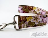 Custom Traffic or City Dog Lead - Short Dog Leash - Car Leash - Purse Leash - Matching Dog Leash