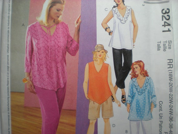 McCalls 3241  Spring Wardrobe  Sizes 18W-24W