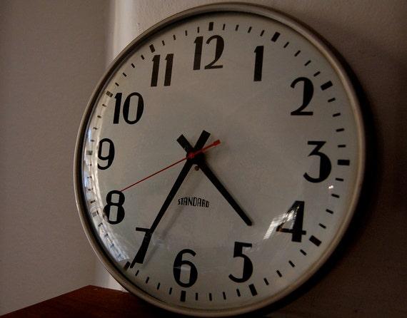 Vintage Industrial Standard Wall Clock