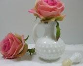Avon Perfume Bottle Milkglass Hobnail Vintage