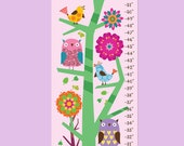 Growth Chart - Owls in the Forest