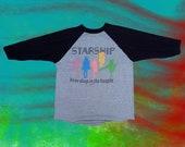 ON SALE** Vintage 80s Jefferson Starship Hoopla Tour Baseball Shirt