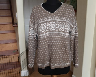 Women's Angora Blend Fair Isle Sweater