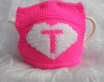 Love Tea Teapot Cosy - Bright Pink