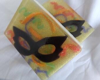 Masquerade Party Soap.  Mask Soap. Novelty Soap. Designer Soap. Made to Order.