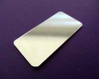 """qty 3 Luggage Tag Metal blanks for stamping - Aluminum - 1"""" x 2"""" - 14 Gauge - Quantity 3"""