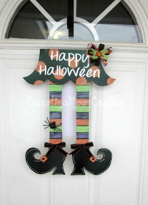 Items Similar To Witch Legs Door Decor Witch Legs Wreath