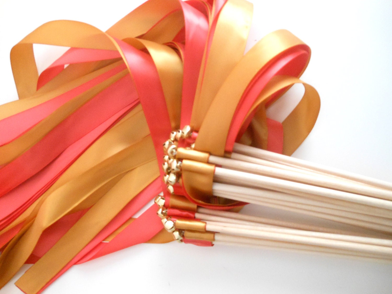 Wedding ribbon wands party streamers set of 25 double for Ribbon wands
