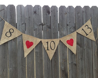 ENGAGEMENT PHOTO PROP / Save The Date Burlap Banner / Bunting / Engagement Photo Shoot / Engagement Banner / Engagement Bunting / Handmade