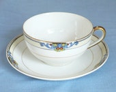 Cup and Saucer Noritake Glenora 74084 c1918 PLUS SPARE SAUCER