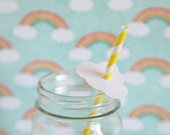 Baby Shower Theme, Cloud Straw, Cloud embellishment, Rainy Day Theme, Showers, up up and away theme, 12 cloud embellishments