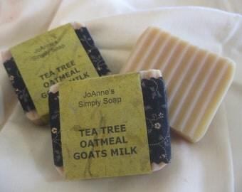 Hand Crafted Tea Tree Oatmeal Goats Milk Soap