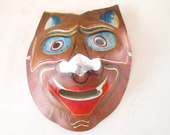 Vintage Halloween Mask Feline Demon 1940s Occupied Japan