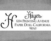 Address Labels - Swirly Script Font - Return Address Labels - Stickers
