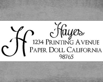 Address Labels - Swirly Script Font - Return Address Labels - Stickers