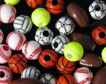 144 Assorted Sports Beads
