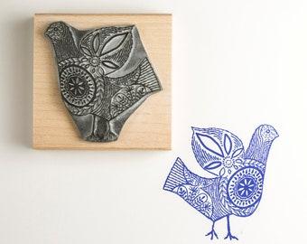 Stitch Bird Rubber Stamp