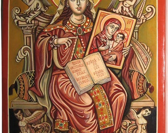 Saint Empress Theodora, protector of Orthodoxy. Byzantine icon handpainted Greek icon  Romanian icon Only on demand.