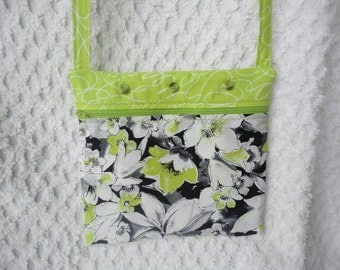 Padded Crossbody Bag - Tote with Long Strap - Ereader / IPad Bag - Nook, Kindle, Ipad, Tablet