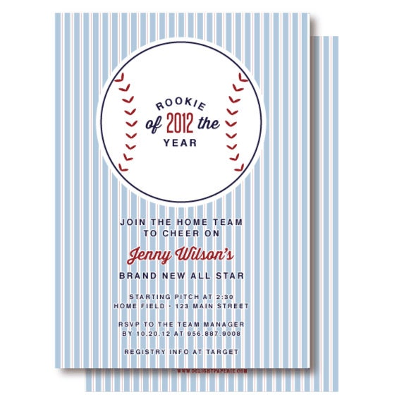 Vintage Baseball Baby Shower Invitations, Baseball Invitation, Printable or Printed